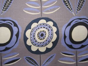 Lollipops Grey Blue 68cms-Large-Fabric for Curtains and Blinds